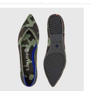 Rothy's OLIVE CAMO Points New 10